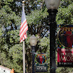 USA Flag & Banner outside Morse Museum