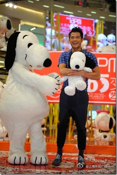Snoopy Peanuts 65th Anniversary Shanghai Exhibition 史努比·花生漫畫65周年變.變.變.藝術展 Aaron Kwok 郭富城 03