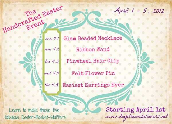Handcrafted Easter Schedule