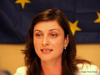 Mariya Nedelcheva, membre du parlement européen et chef observatrice à la mission d'observation électorale de l'union européenne en RDC( MOE UE). Radio Okapi/ Photo John Bompengo
