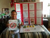 4th Grade Science Fair Fruit Battery Display
