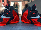 nike lebron 11 gr black red 8 06 New Photos // Nike LeBron XI Miami Heat (616175 001)