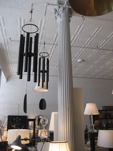 These huge wind chimes make a great statement hanging from the high tin ceilings.