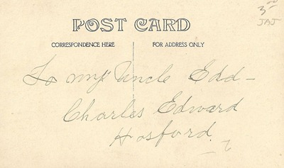 Postcard Charles Edward Hosford DL Antiques back