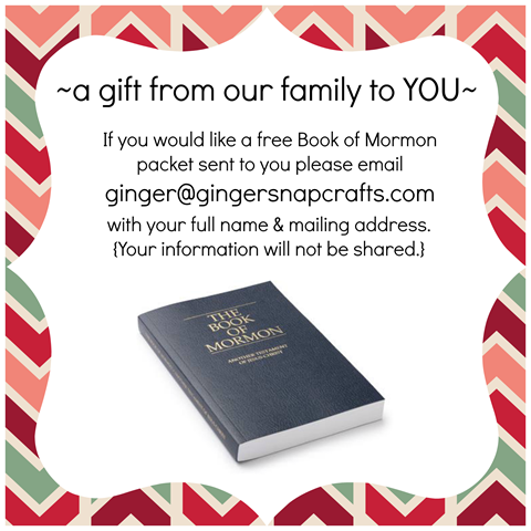 Free Book of Mormon packet at GingerSnapCrafts.com