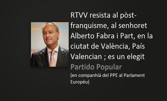 Alberto Fabra i Part lo pòst franquisme valencian