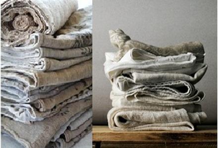collage tessuti lino