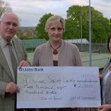 Presentation of Cheque from Sponsored Walk on Good Friday 2009
