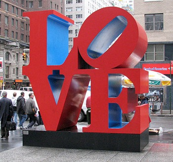 love sculpture valentines day