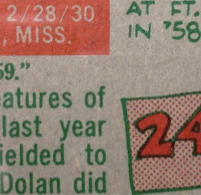 1959 Topps 362 dolan nichols with option statement