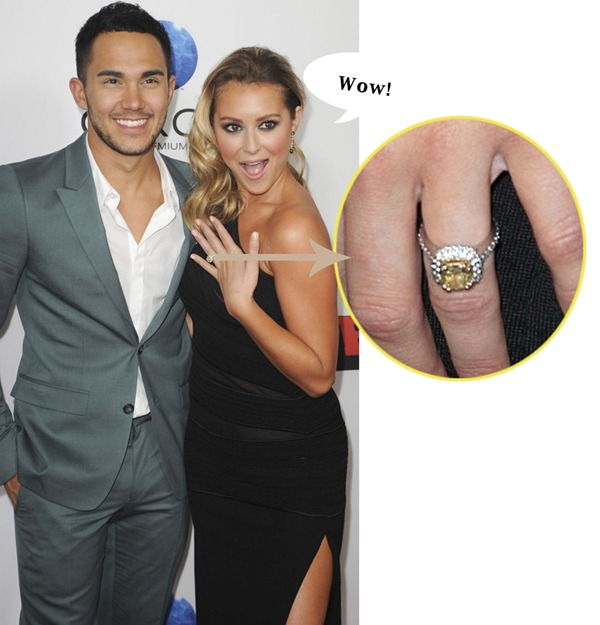 Alexa Vega's Canary Diamond Engagement Ring