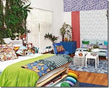 loft colorido sala quarto via planete-deco-fr