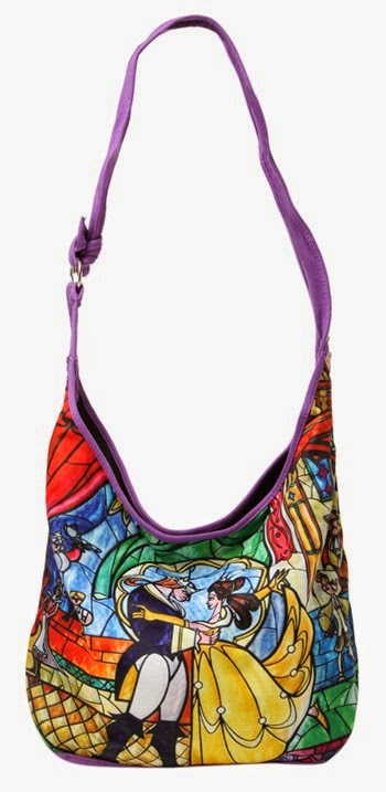 Disney Beauty and the Beast Stained Glass Hobo Bag from Hot Topic