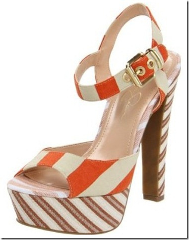 Jessica Simpson Papaya Nautical Platform Sandals