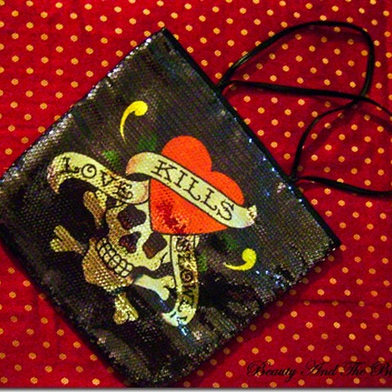 Freshly Shopped: Ed Hardy Love Kills Slowly Sequin Tote From Vogue Magnet