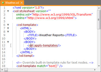 XML Syntax Coloring