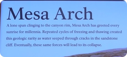mesa arch sign