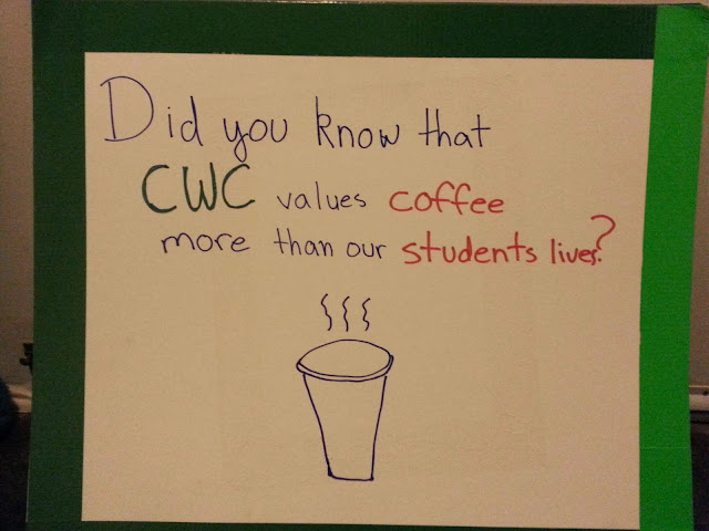 CWC values coffee more then students