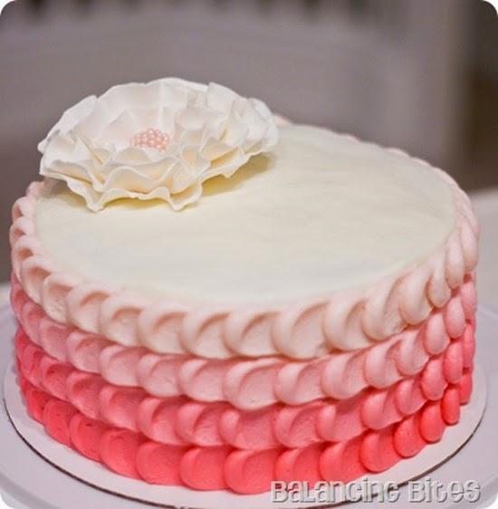 Pink Ombre Cake - Balancing Bites