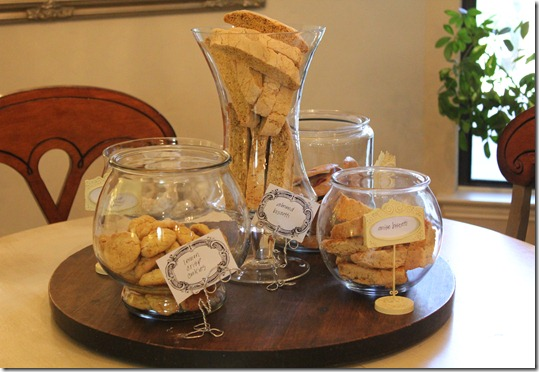 tea party cookie table