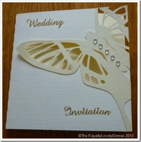 Butterfly wedding invitaion 2