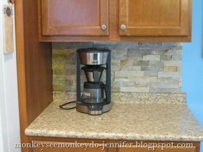 kitchen backsplash coffee corner