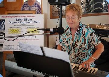 Diane Lyons enjoying playing her Korg Pa900. Photo courtesy of Dennis Lyons