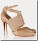 Christian Louboutin Nude Suede and Leather Shoes