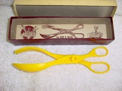 Flex-O-Ware SERV • A • SALAD salad serving tongs, yellow
