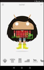 Androidify تطبيق عمل شخصيات كارتونية أندرويد Avatars - 1