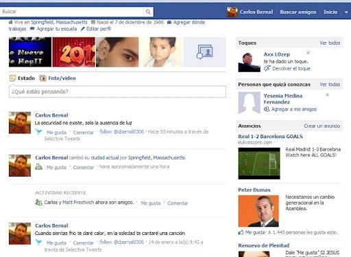 quitar el Timeline en Facebook con Firefox