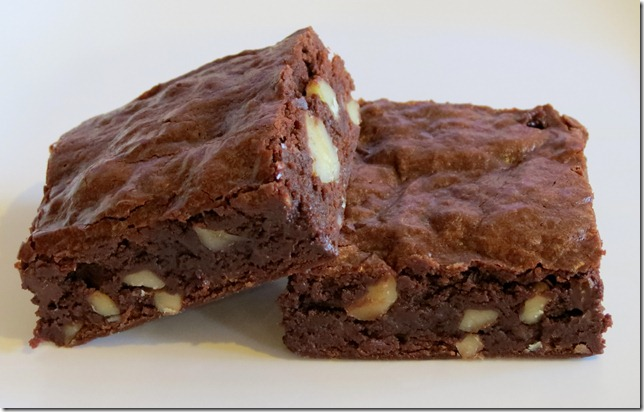 Dark, Fudgy Brownies (pwd. sugar and corn syrup) 7-8-12