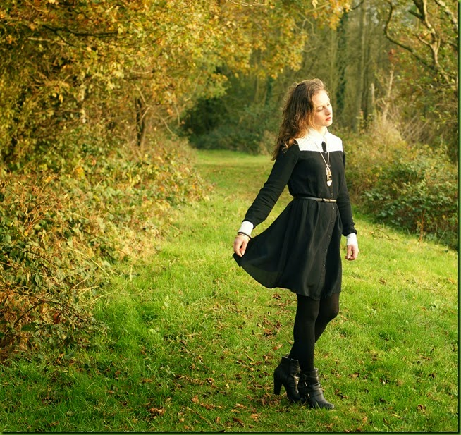 Asos monochrome shirt dress