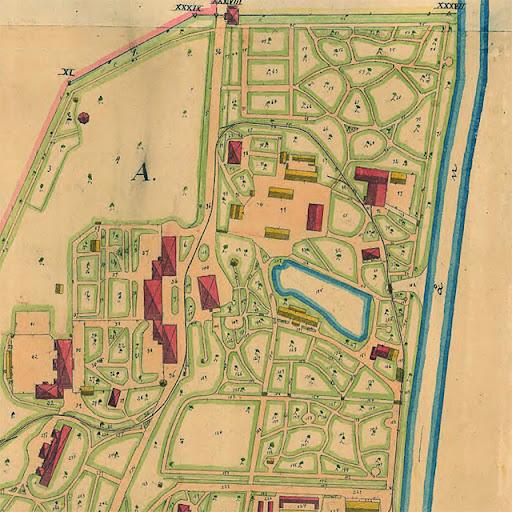 Sandvikskällan 1910. Norra delen av Ulleråkers sjukhus med en fantastisk parkanläggning.