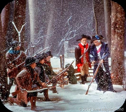 View-Master The Revolutionary War (B810), Scene C2: Von Steuben Drills Troops at Valley Forge, 1778