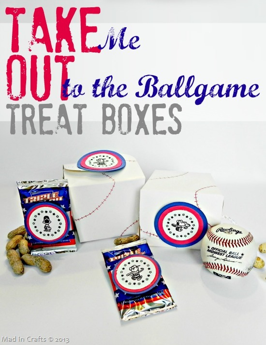 Take Me Out to the Ballgame Take Out Treat Boxes
