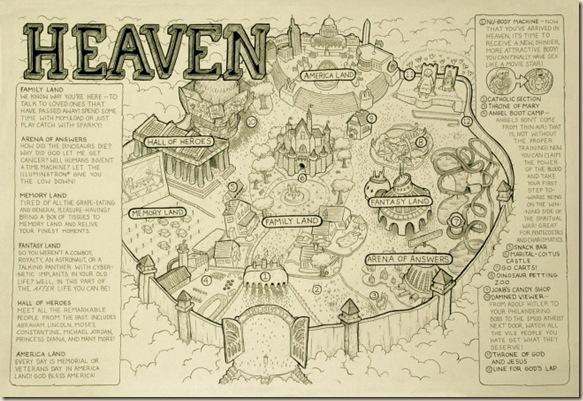 mapa del cielo ateismo paraiso  dios jesus biblia cristianismo
