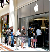 Line outside apple store