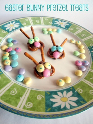 Easter Bunny Pretzel Treats 5