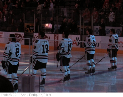 'Anthem Keith, Toews, Sharp, Leddy, and Kane' photo (c) 2011, Anna Enriquez - license: http://creativecommons.org/licenses/by/2.0/