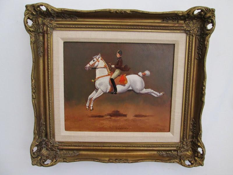 J. Plank Linz Equestrian Painting