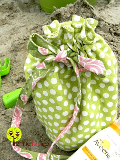 beach comber bag tutorial