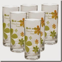 Buy Green Apple lris Orchid Glass set of 6 at Rs.127