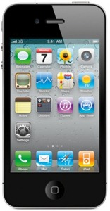 An iPhone 4 with email and SMS capability