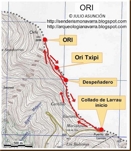 Mapa ruta ORI - ORHI