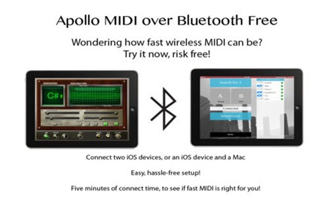 MIDI over Bluetooth App for iPad, iPhone and Mac