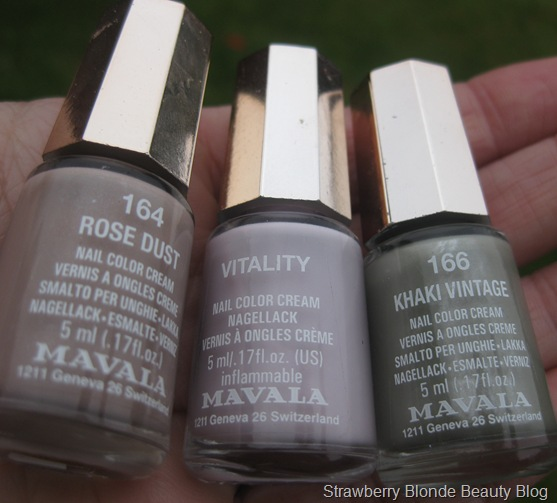 Mavala Rose Dust, Vitality &amp; Khaki Vintage