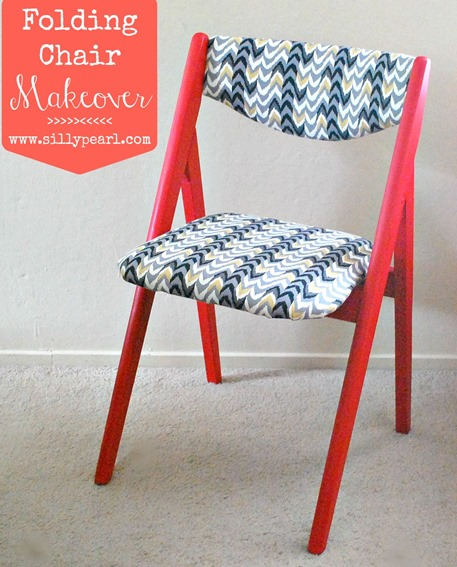 Folding Chair Makeover - The Silly Pearl