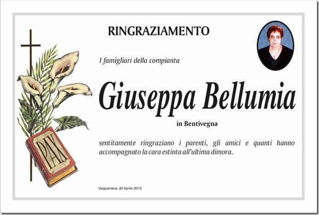 Bellumia Giuseppa ringraziamento