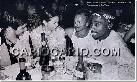Madonna, Sting, e Tupa